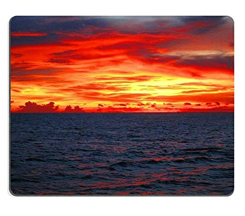 17P06565 Creativity Mousepad Gaming Mouse Pad Thai Sunset Natural Rubber Material (Sims 3 Sunset Valley)