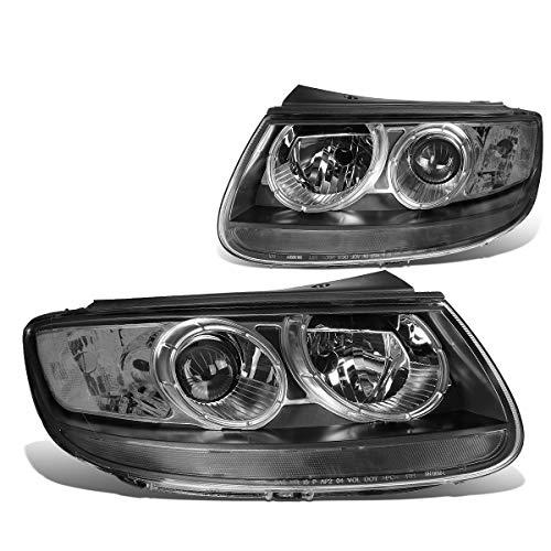 Pair Black Housing Clear Corner Projector Headlight/Lamps for Hyundai Santa Fe 07 08 09 10 11 - Headlamp Headlight Santa Hyundai Fe