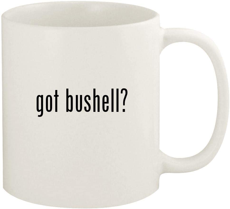 got bushell? - 11oz Ceramic White Coffee Mug Cup, White