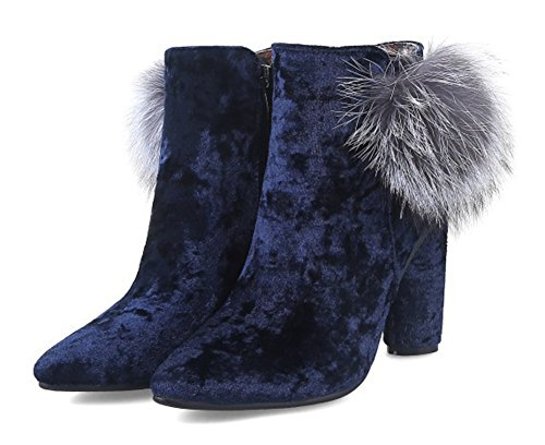 Aisun Boots Fermeture Low Mode Femme Fourr Eclair n8wOR