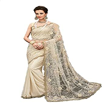 Amazon.com: Ceremonia de la India Saree sari boda nupcial ...
