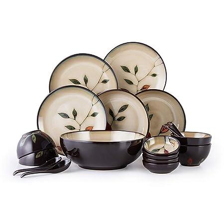 Cuenco de cerámica para vajilla, platos de cerámica, 18 cabezales ...