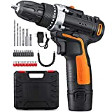 YIMALER 12V 2.0Ah Cordless Lithium Drill/Driver Kit, 3/8″ Chuck Max Torque 265 In-Lbs, 2 Speed, 1 Hour Fast Charger, LED light, 26 Accessories Review