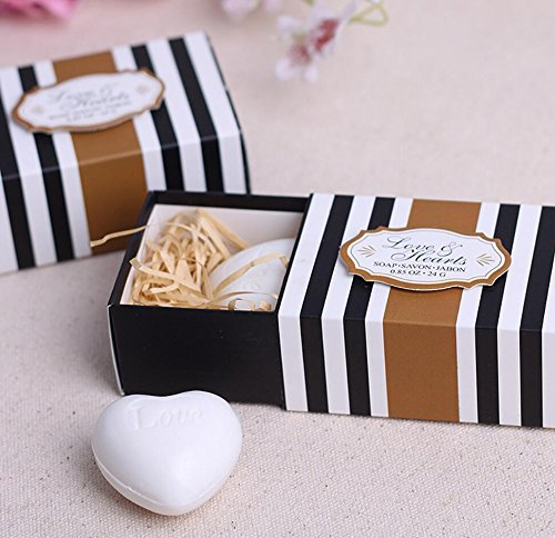96pcs Creative Love Heart Soap For Wedding & Baby Shower Favors