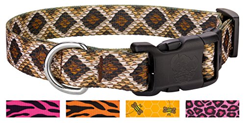 Country Brook Petz Deluxe Rattlesnake Dog Collar - Small