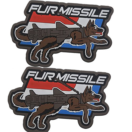 2PCS Fur Missile PVC Morale Patch (Full Color)