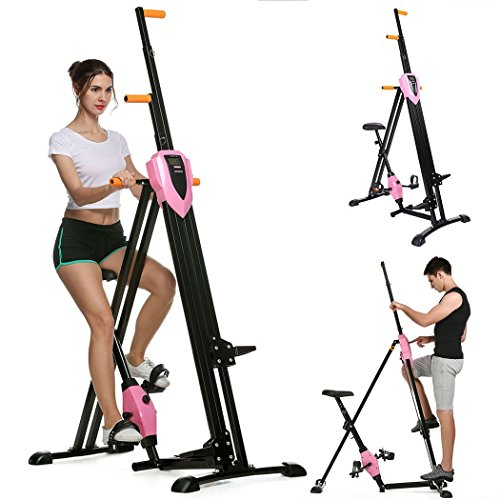 Full Body Workout Vertical Climber, Gym Exercise Fitness Machine Stepper Cardio Workout Training non-stick grips Legs Arms Abs Calf