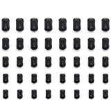 Mflying 40pcs Clip-on Ferrite Magnetic Ring Core RFI EMI Noise Suppressor Cable Clip for 3.5mm / 5mm / 7mm / 9mm / 13mm Dia, 8pcs each
