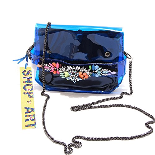 8432G pochette donna blu SHOP ART borsa borsetta tracolla accessori bag women Blu