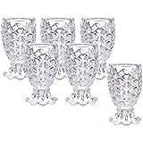 King International 100% Crystal Clear Pineapple Shot Glasses | Set of 6 Pieces | Whiskey, Beverage, Beer Glasses |