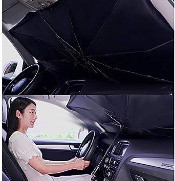 S Mit Fensterkopf. Auto Windschutzscheibe Sonnenschutz UV-Strahlen und Hitze Sonnenblende Protektor Faltbarer Reflektor Regenschirm mit Mesh Fengstore Faltbarer Auto-Sonnenschirm-Block Hitze UV