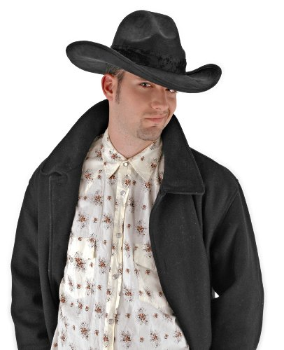 elope The Gambler Black Cowboy Hat (Adult Black Cowboy Hat)