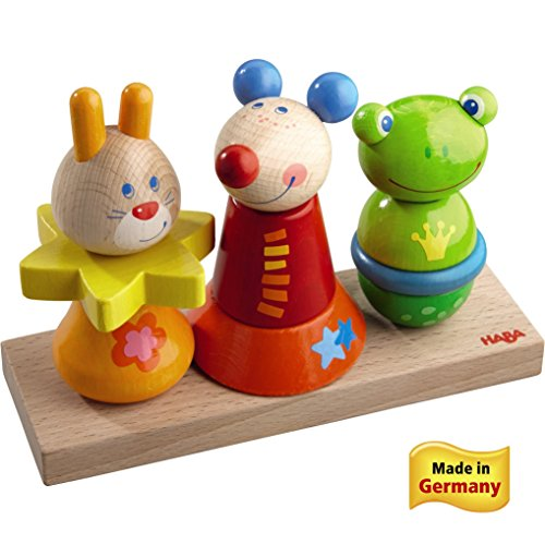 HABA Animal Garden Wooden Pegging Game (Made in Germany)