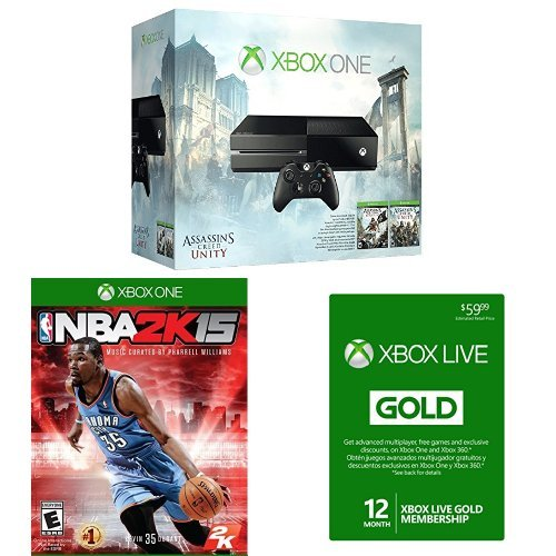 Xbox One Assassin's Creed Bundle with 12 Month Gold Card and NBA 2K15