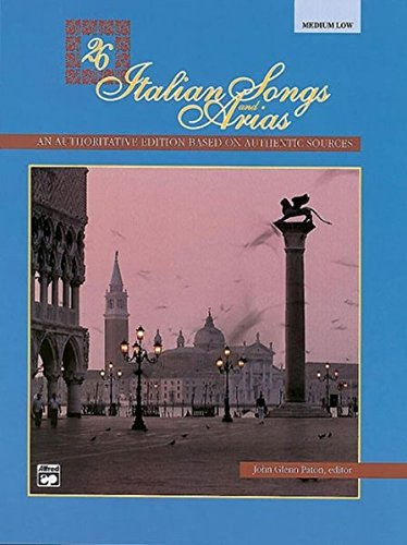 Discount Cd Cabinets - 26 Italian Songs and Arias: Medium Low Voice, Book & CD