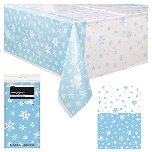 Unique Snowflakes Table Cover Party Decor | Rectangular
