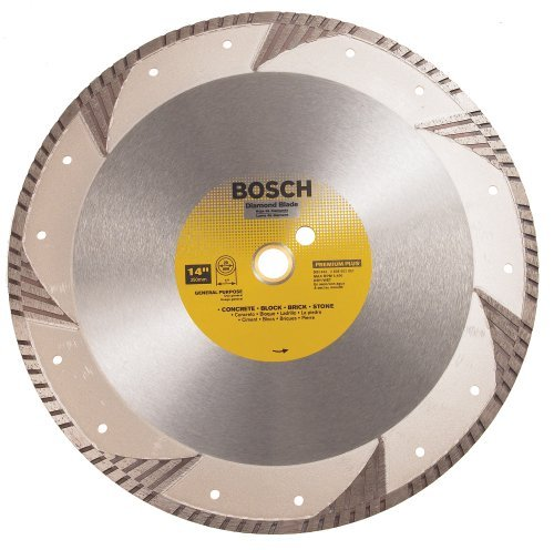 Bosch DB1463 Premium Plus 14-Inch Dry or Wet Cutting Turbo Continuous Rim Diamond Saw Blade with 1-Inch Arbor for Masonry (Diamond Plus Blade Premium)
