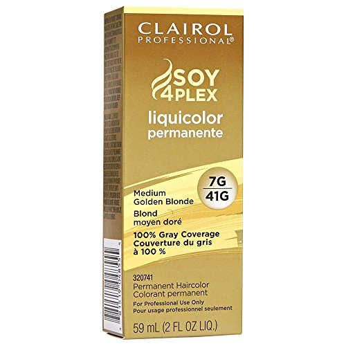 (VALUE PACK OF 3) CLAIROL PROFESSIONAL SOY4PLEX LiquiColor Permanent Hair Color #7G/41G MEDIUM GOLDEN BLONDE by CLAIROL PROFESSIONAL SOY4PLEX