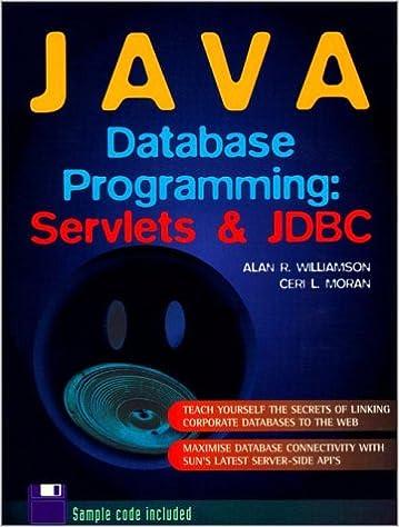 Java Database Programming: Williamson, Moran: 0076092032854