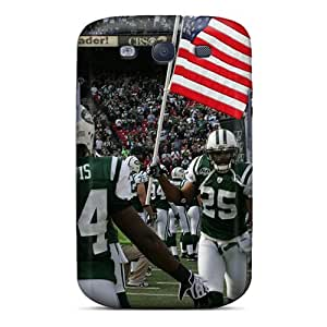 Shock Absorption Hard Cell-phone Cases For Samsung Galaxy S3 With Provide Private Custom Vivid New York Jets Skin ColtonMorrill