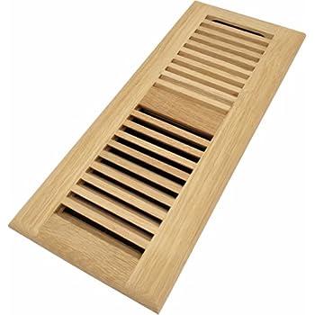 Homewell White Oak Wood Floor Register Drop In Vent With