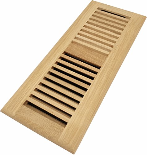 - Homewell White Oak Wood Floor Register, Drop in Vent with Damper, 4x12 Inch, Unfinished