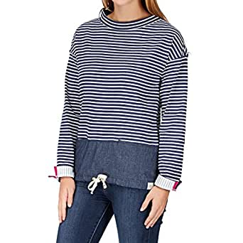 Joules Mariana Ladies Sweatshirt (T) Blue Marl Stripe 10