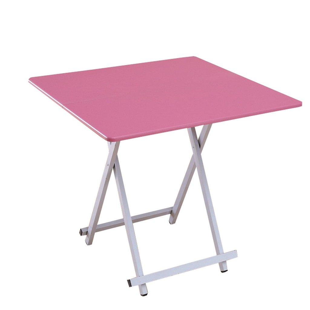 TangMengYun 折り畳みテーブルダイニングテーブルホームスクエアテーブル小さなテーブルポータブルシンプルテーブル (Color : Pink, サイズ : 60*60*55CM) B07DPKRWMY 60*60*55CM Pink Pink 60*60*55CM