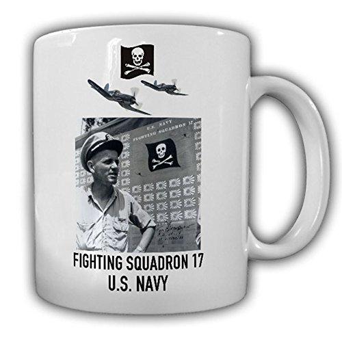Commander Blackburn VF 17 Jolly Rogers Fighting Squadron 17 US NAVY Insignia F4U Corsair Skull Pirate Pacific - Coffee Cup Mug