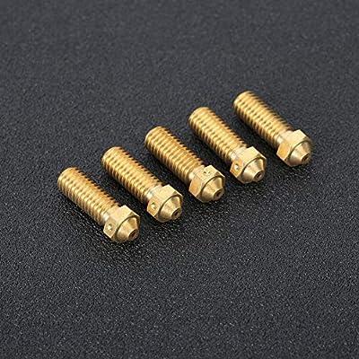 ASHATA Accesorios para impresoras 3D, 5 Piezas de latón, 1.75 mm ...