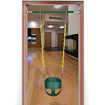 This item Bucket Swing+ Pull up bar Toddler Children High Back Full Bucket Swing Polymer Doorway Pull up bar(32.7inch to 51.2inch)