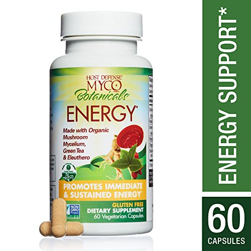 Host Defense – MycoBotanicals Energy, Mushrooms and Herb Support for Stamina and Endurance, 60 Count