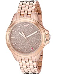 Juicy Couture Womens MALIBU Quartz and Stainless Steel Casual Watch, Color:Rose Gold-Toned (Model: 1901594)