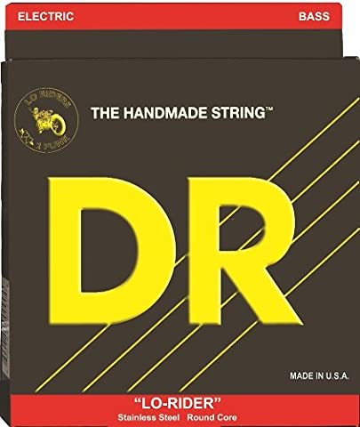 DR Strings Lo-Rider - Stainless Steel Hex Core 6 String Bass 30-125 (Dr Bass Guitar Strings For 6)