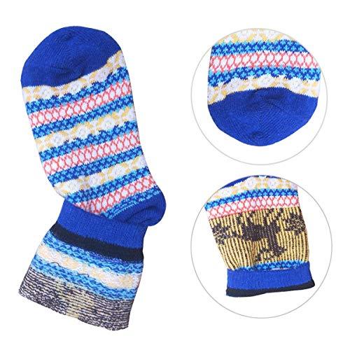 Amazon.com: Calcetines de punto de lana gruesa para mujer ...