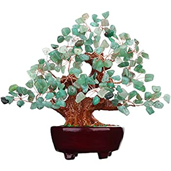 Parma77 Mart 7 Inch Feng Shui Aventurine Quartz Gem Stone Money Tree Natural Green Crystal Art Decoration Office Living Room Good Luck