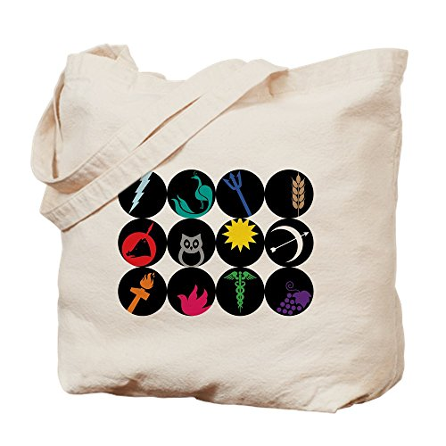 CafePress - Greek Gods - Natural Canvas Tote Bag, Cloth Shopping Bag