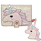 Unicorn Passport case and Luggage tag Gift US Pink Passport Cover for Girls Women RFID Blocking PU Leather Passport Holder