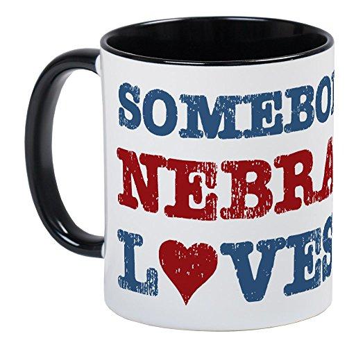 CafePress Somebody In Nebraska Loves Me Mug Unique Coffee Mug, Coffee Cup