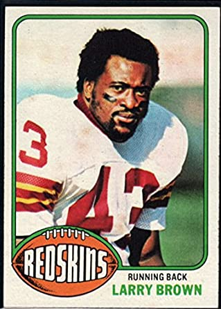 Amazon.com  Football NFL 1976 Topps  115 Larry Brown Redskins ... b719a59b0