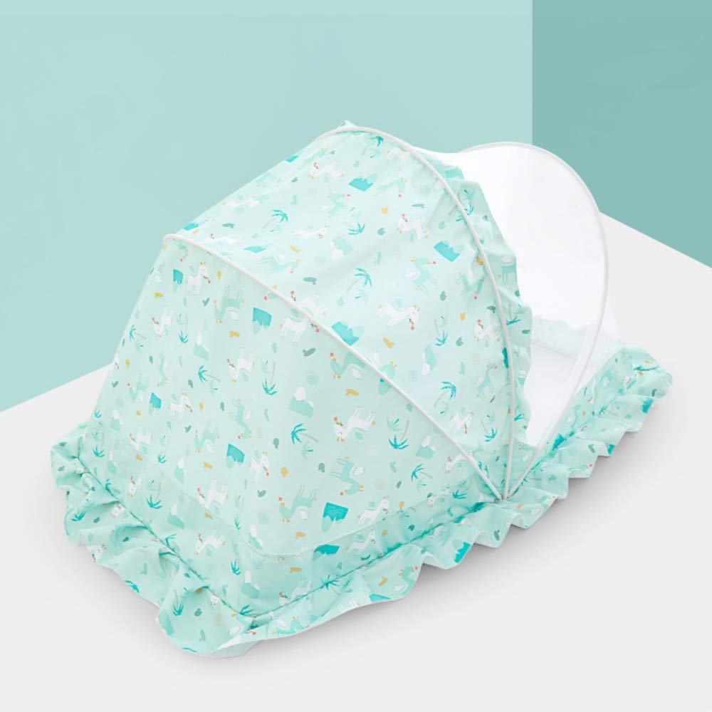 TYZNB Baby Mosquito net Summer Mosquito Folding Portable Free Installation Child Mosquito net Bed Full Cover 2019 New, Green