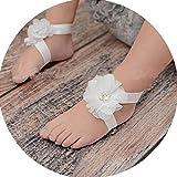 Miugle Baby Girls Chiffon Pearl Diamond Flower
