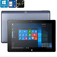Bluetooth WiFi Android + Windows 10 Tablet PC Ounice 10.1 Inch Display 2GB RAM Quad Core Micro SD Card Slot 10.1 Android+ Windows 10 Tablet (Blue)