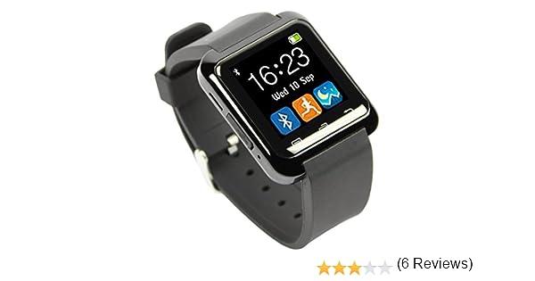 U80 Bluetooth 4.0 Multi-idiomas Reloj Inteligente Smartwatch con la Pantalla Táctil Compatible con Android Smartphones tales como Samsung, HTC, Sony ...