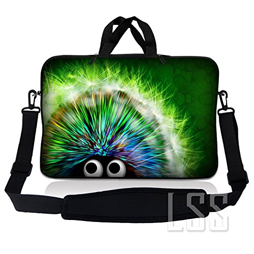 LSS 14.1 inch Laptop Sleeve Bag Carrying Case Pouch w/Handle & Adjustable Shoulder Strap for 14