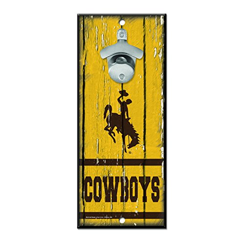 WinCraft NCAA Wyoming Cowboys Wood Bottle Opener Sign, 5