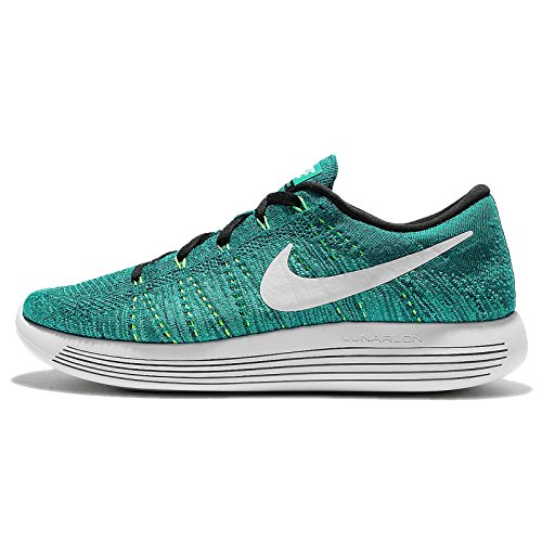 Nike Lunarepic Low Flyknit, Zapatillas de Running para Hombre Verde (Rio Teal / White-Clear Jade-Voltage Green)