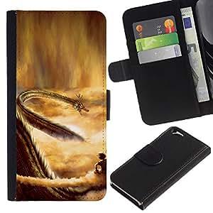 JackGot ( Dragon del cielo ) Apple (4.7 inches!!!) iPhone 6 / 6S la tarjeta de Crédito Slots PU Funda de cuero Monedero caso cubierta de piel