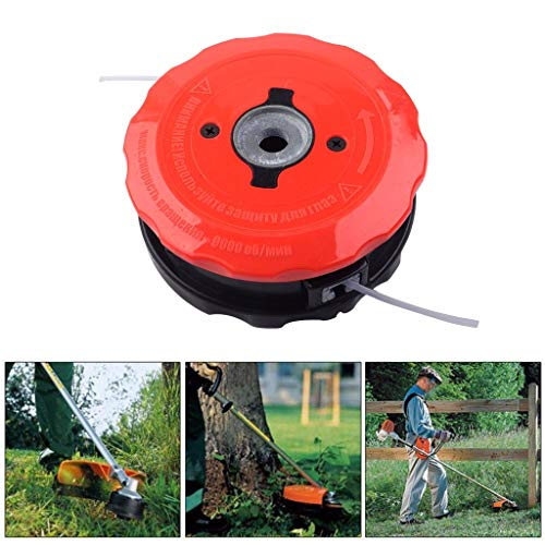Jeeke Universal Speed Feed Line Trimmer Head Weed Eater for Husqvarna for Echo for Stihl ABS,Easy Load System (Black) ()