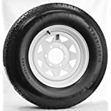"""Wheels Express Inc 15"""" White Spoke Trailer Wheel with Radial ST225/75R15 Tire Mounted (6x5.5) Bolt Circle"""